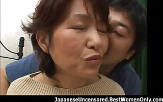 Awesome Asian Japanese Maw Dwelling-place Making love Teen Toff